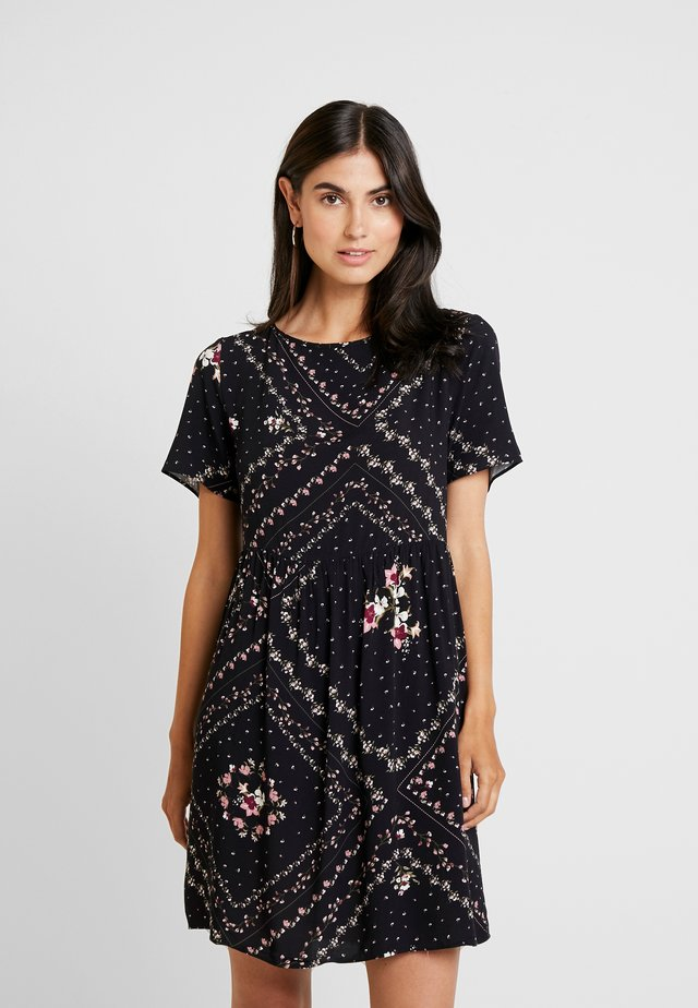 VESTIDO TECIDO BALI - Day dress - black