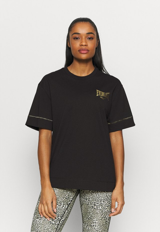 COLLIS - T-shirt con stampa - black