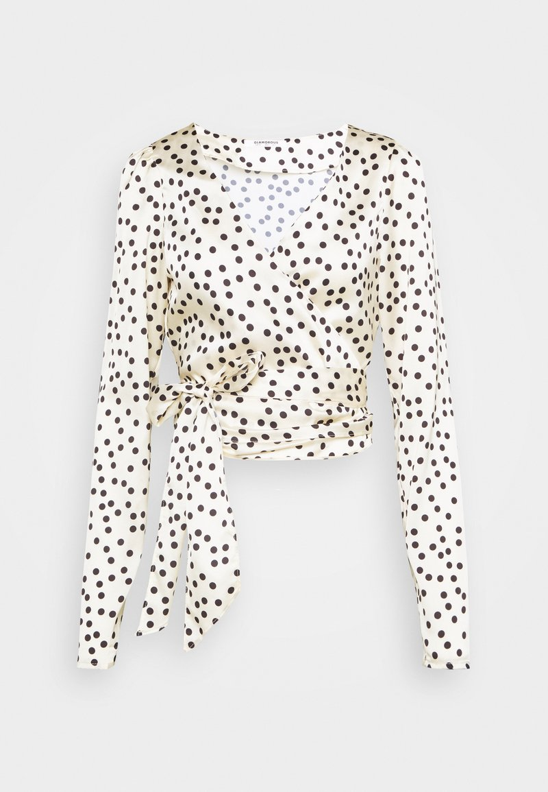 Glamorous - DRAPE WRAP WITH LONG SLEEVES PLUNGING NECKLINE - Blouse - polka