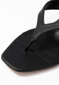 Topshop Wide Fit - WIDE FIT NINA MULE - T-bar sandals - black - 2