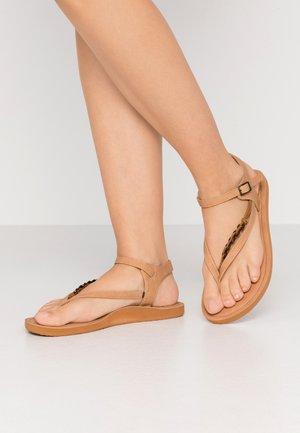 BATIDA COCO - T-bar sandals - light brown