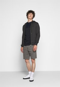 Emporio Armani - ZIPPED HOODIE  - Sweatjacke - dark grey - 1