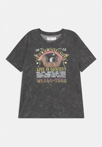 Abercrombie & Fitch - OVERSIZED LOGO - Print T-shirt - dark grey - 0