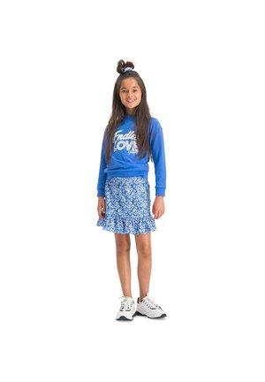 QIQI - A-line skirt - bold blue