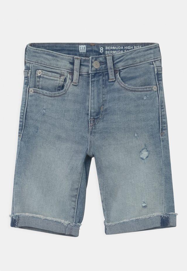 GIRL BERMUDA - Shorts di jeans - light-blue denim
