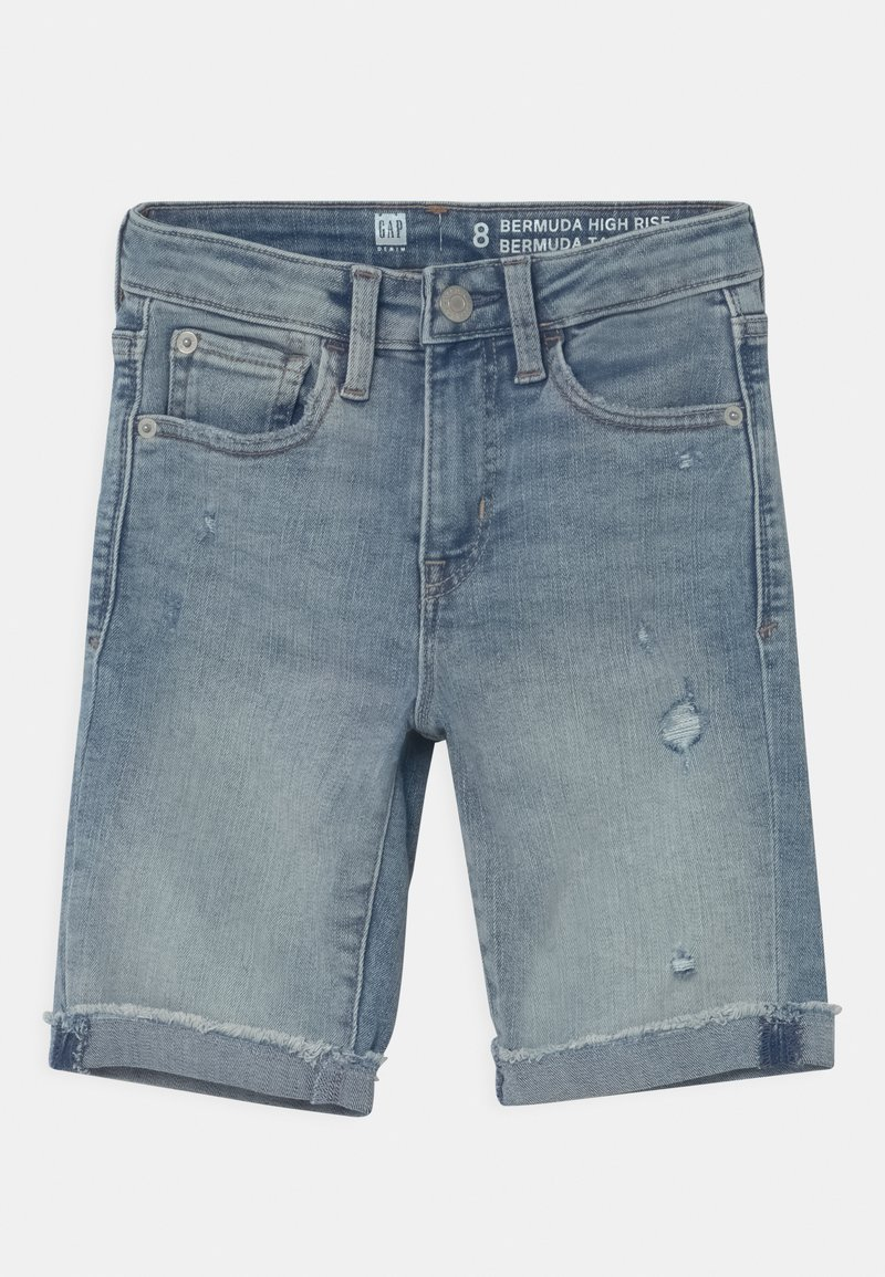 GAP - GIRL BERMUDA - Denim shorts - light-blue denim