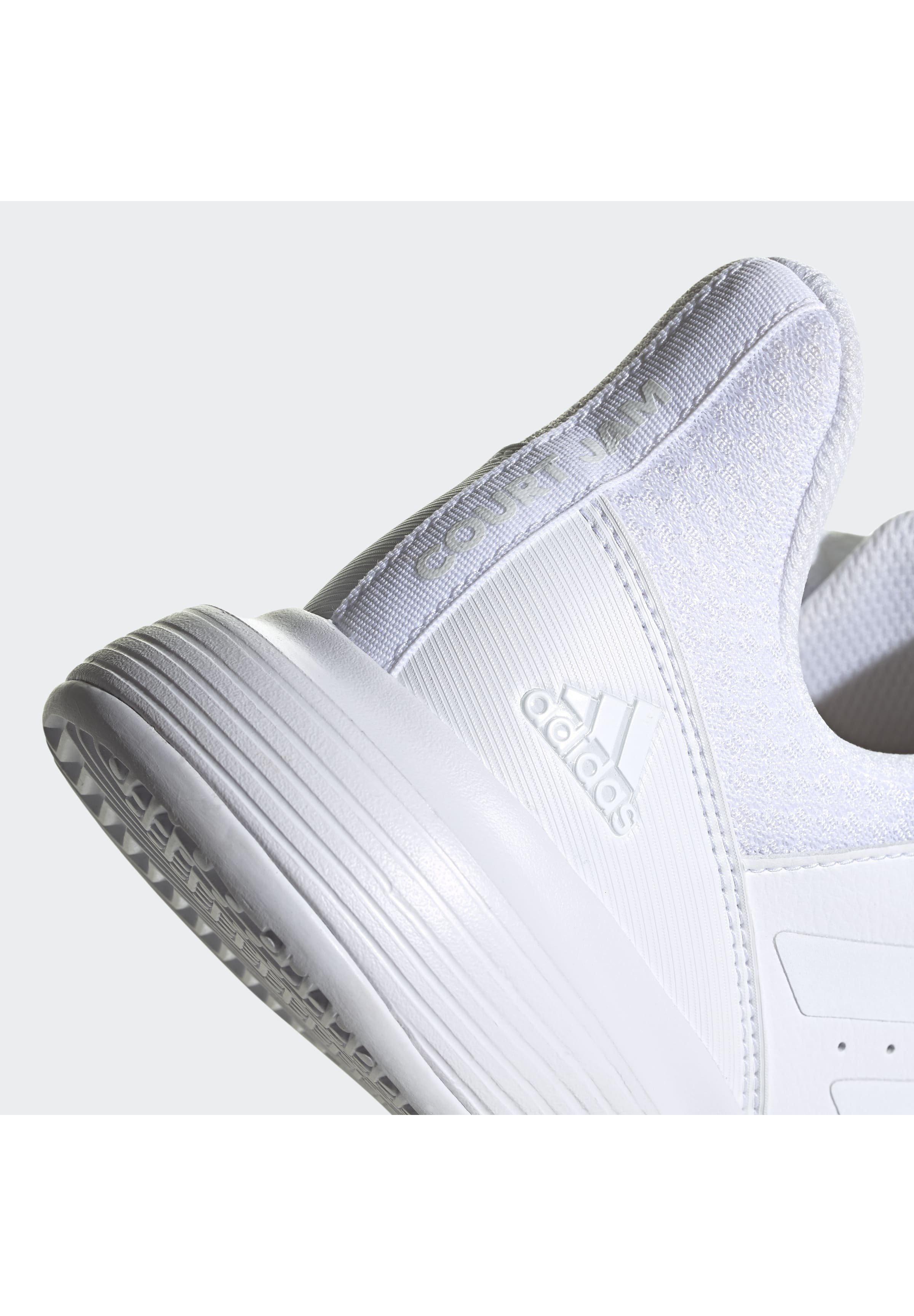 adidas Performance COURTJAM BOUNCE MULTICOURT LEATHER TENNIS SHOES - Multicourt Tennisschuh - white/weiß - Herrenschuhe WnyP2