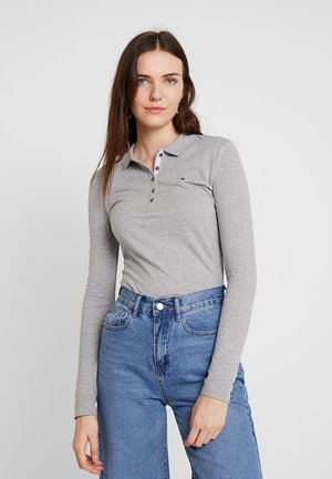 LONG SLEEVE SLIM - Polo - grey