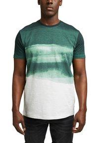 Esprit - FASHION SLUB - Print T-shirt - teal green - 4