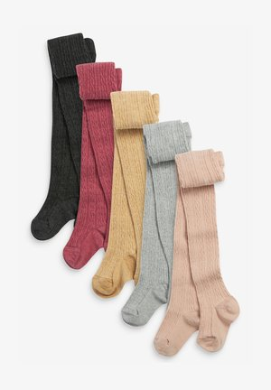5 PACK CABLE - Over-the-knee socks - multi coloured