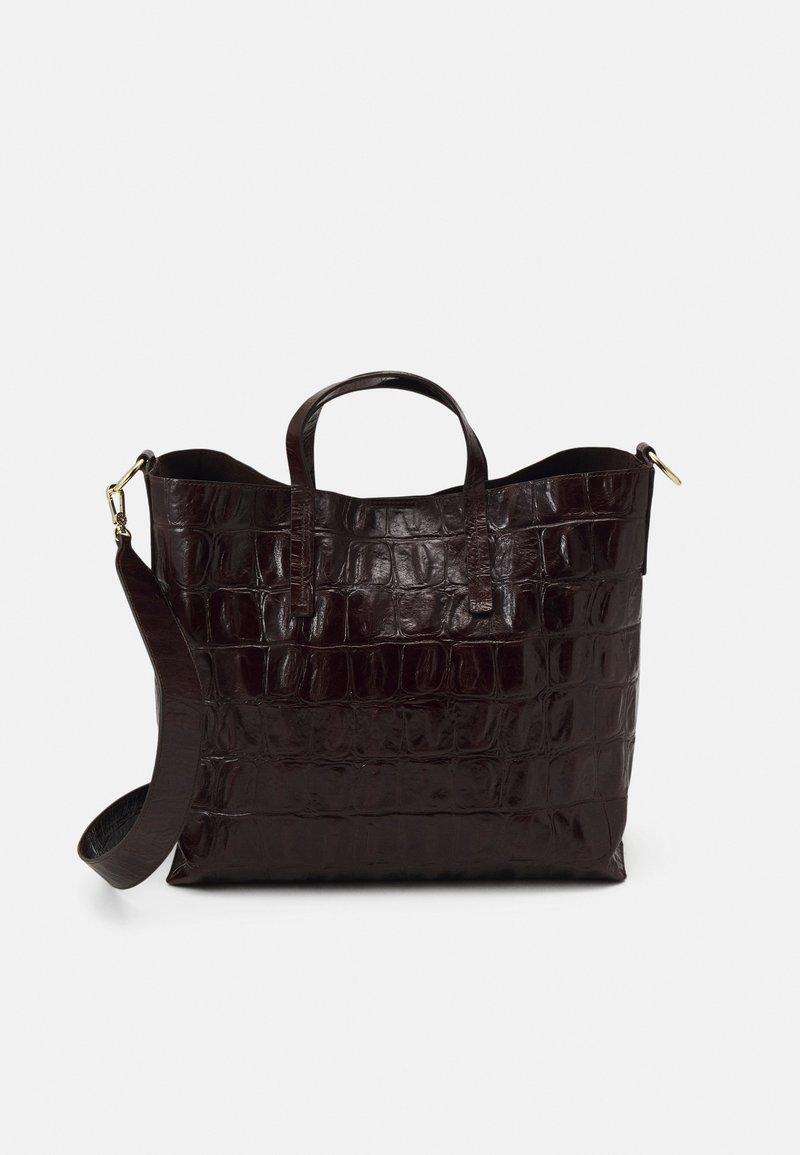 Abro - SHOPPER JULIE SET - Shoppingväska - dark brown