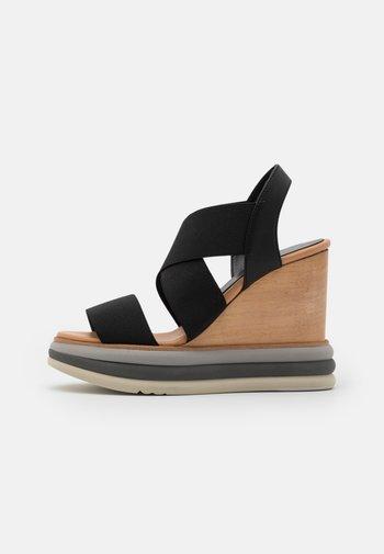FILIPINAS - Sandály na vysokém podpatku - black