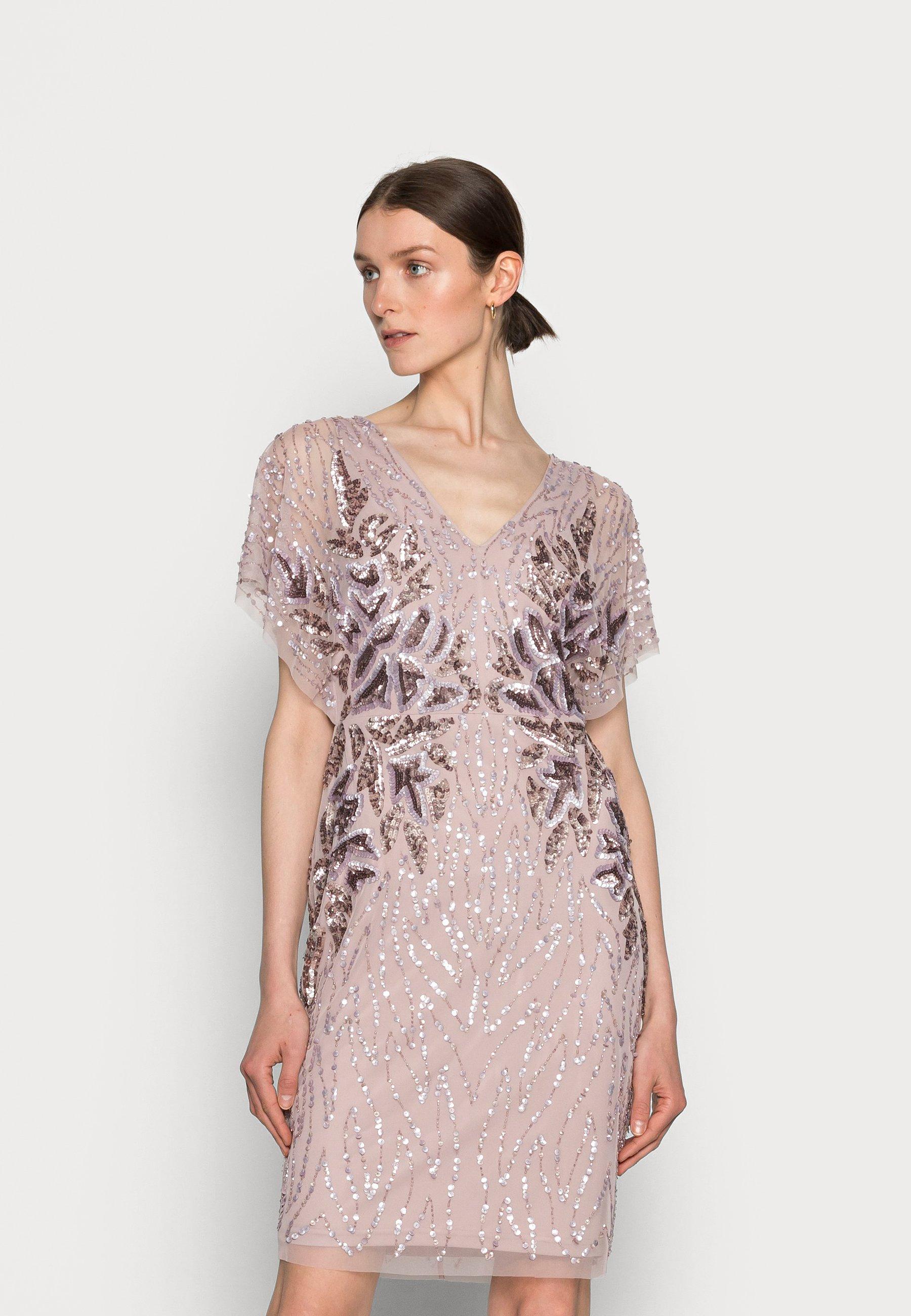Women SHORT BEADED DRESS - Cocktail dress / Party dress