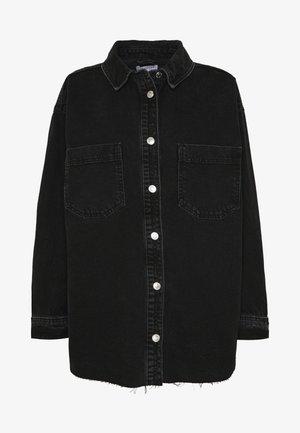 OVERSHIRT - Button-down blouse - black denim