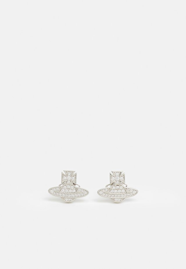 ROMINA PAVE ORB EARRINGS - Earrings - white