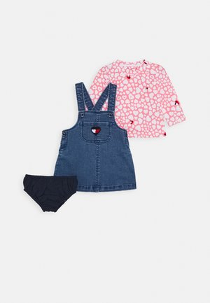 BABY GIRL DUNGAREE SET - Lacláče - denim