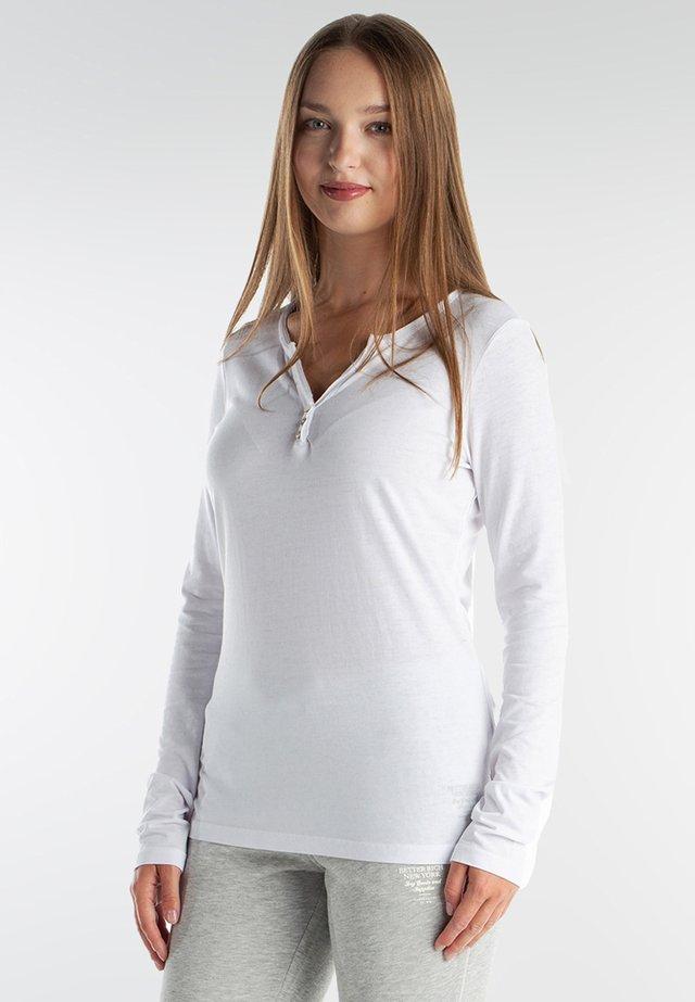 LONGSLEEVE - Long sleeved top - white