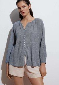 OYSHO - Button-down blouse - dark blue - 0