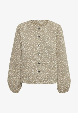 Light jacket - multi green flower