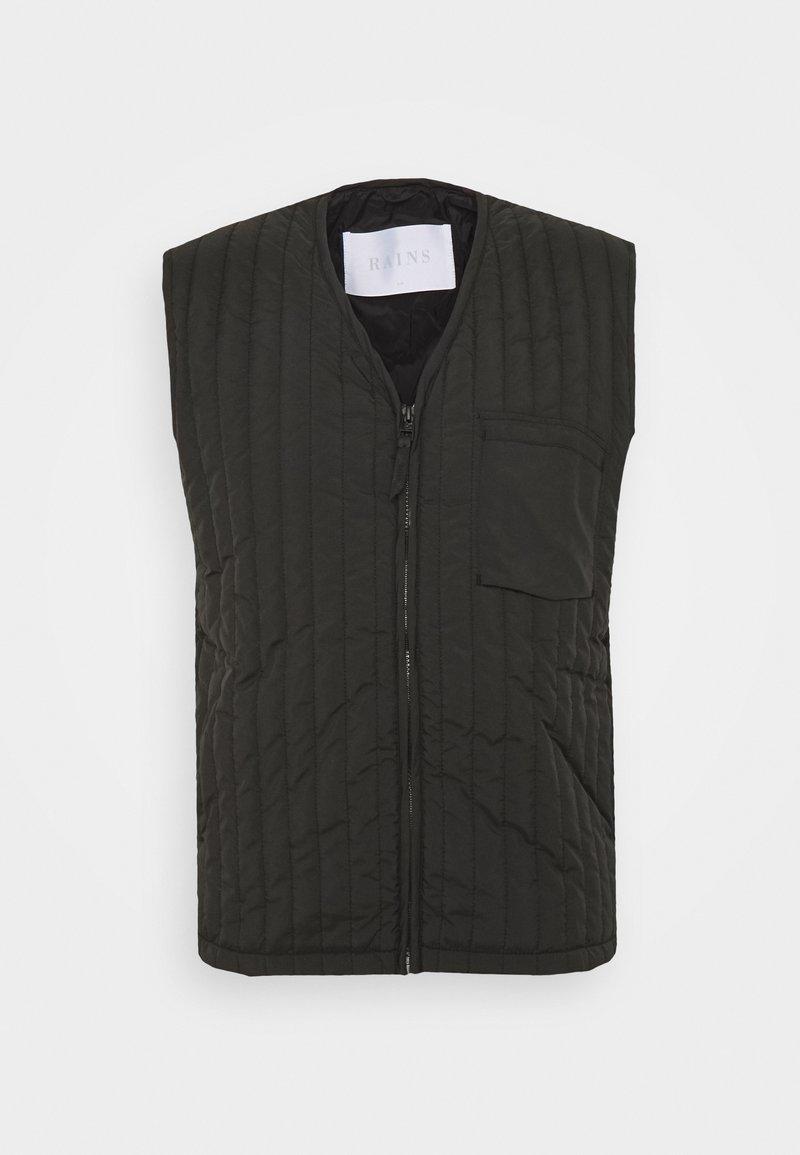 Rains - UNISEX LINER VEST - Waistcoat - black