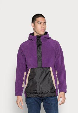 POLAR BLOCK HOOD JACKET - Hoodie - purple