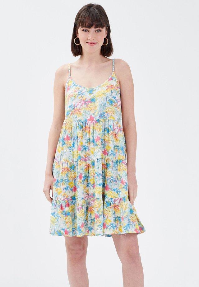 AUSGESTELLTES MIT TRÄGERN - Korte jurk - multico