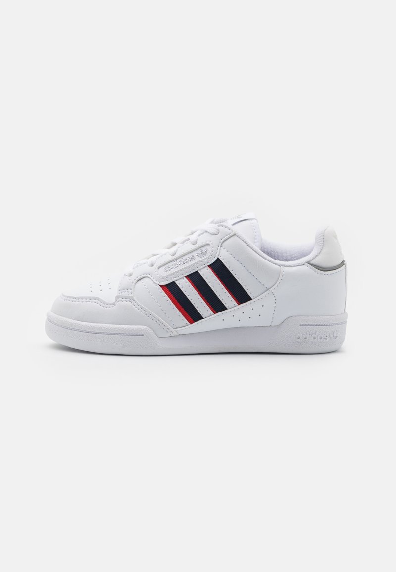 adidas Originals - CONTINENTAL 80 STRIPES UNISEX - Trainers - footwear white/collegiate navy/vivid red