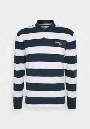 LONGSLEEVE STRIPE - Polo shirt - twilight navy