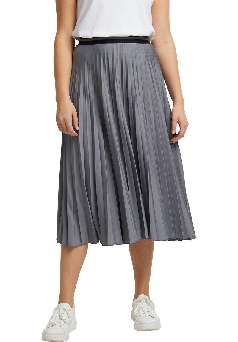 Esprit - A-line skirt - gunmetal