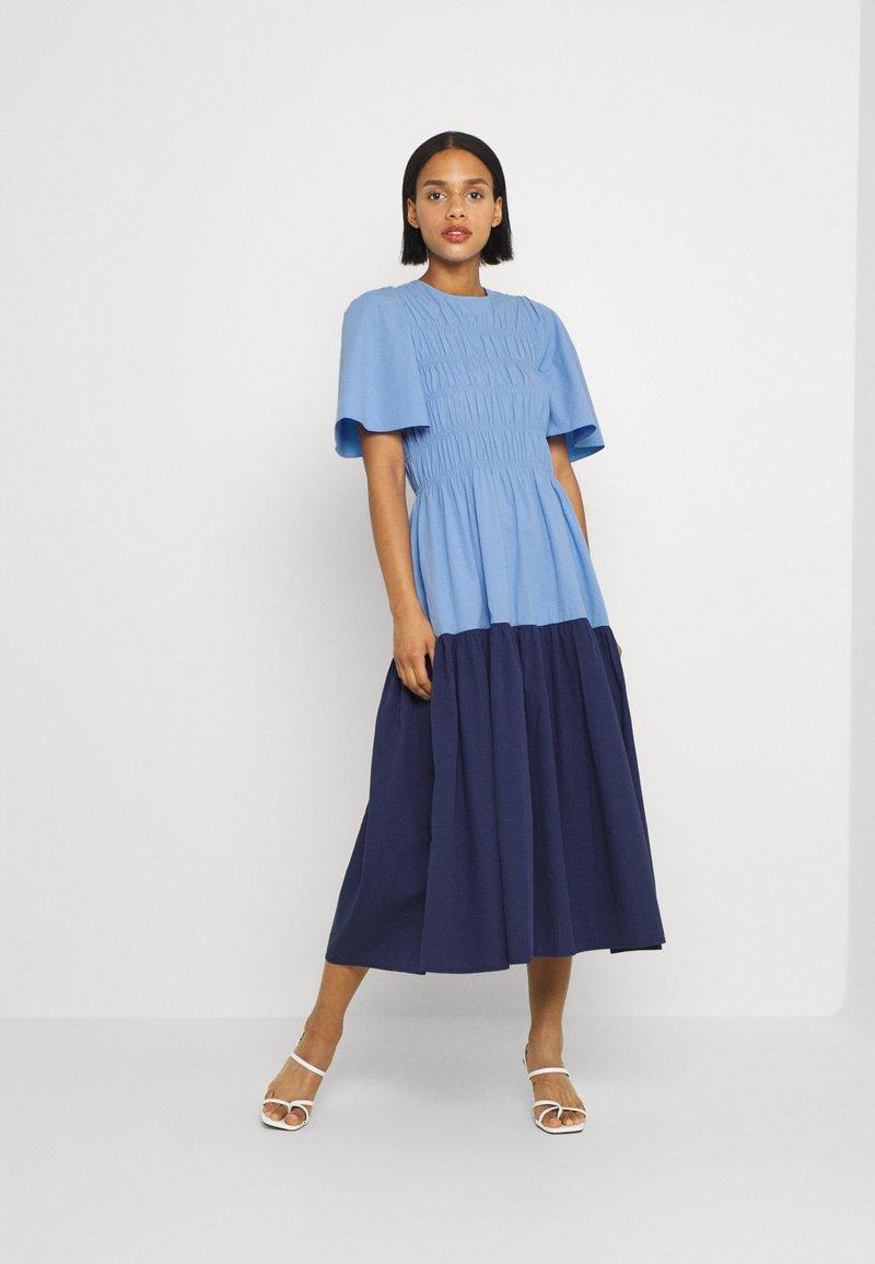YAS - YASMARVIS LONG DRESS  - Maxi dress - cornflower blue/blue block