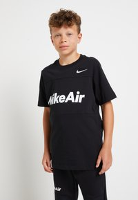 Nike Sportswear - AIR TEE - Print T-shirt - black - 0