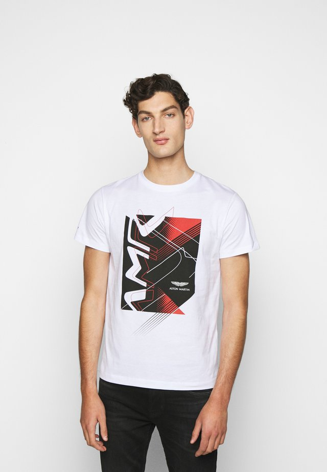 RACING TEE - T-shirt con stampa - white