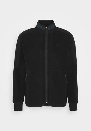 TECH FLEECE ZIP THRU SW L\S - Fleecejacke - dark black