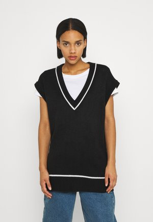 VEST DRESS - Neulemekko - black