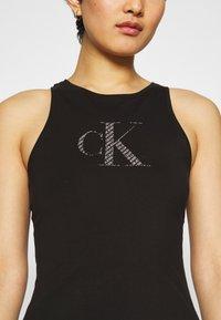 Calvin Klein Jeans - BONDED RACER BACK DRESS - Etuikleid - black - 4