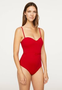 OYSHO - BELTED  - Swimsuit - red - 1