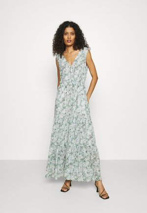 SURPLICE TIERED PRINT - Day dress - blue