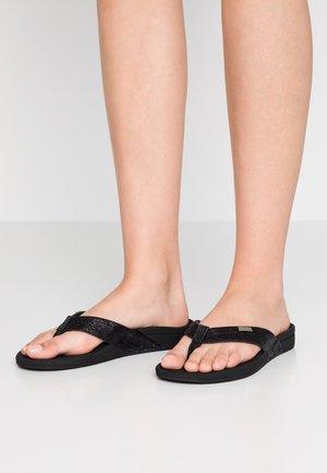 ORTHO SPRING - Sandály s odděleným palcem - black/glitter
