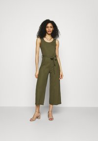 Anna Field - Belted sleeveless wide legs jumpsuit - Overall / Jumpsuit - green - 0