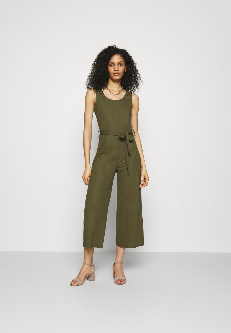 Anna Field - Belted sleeveless wide legs jumpsuit - Overall / Jumpsuit - green