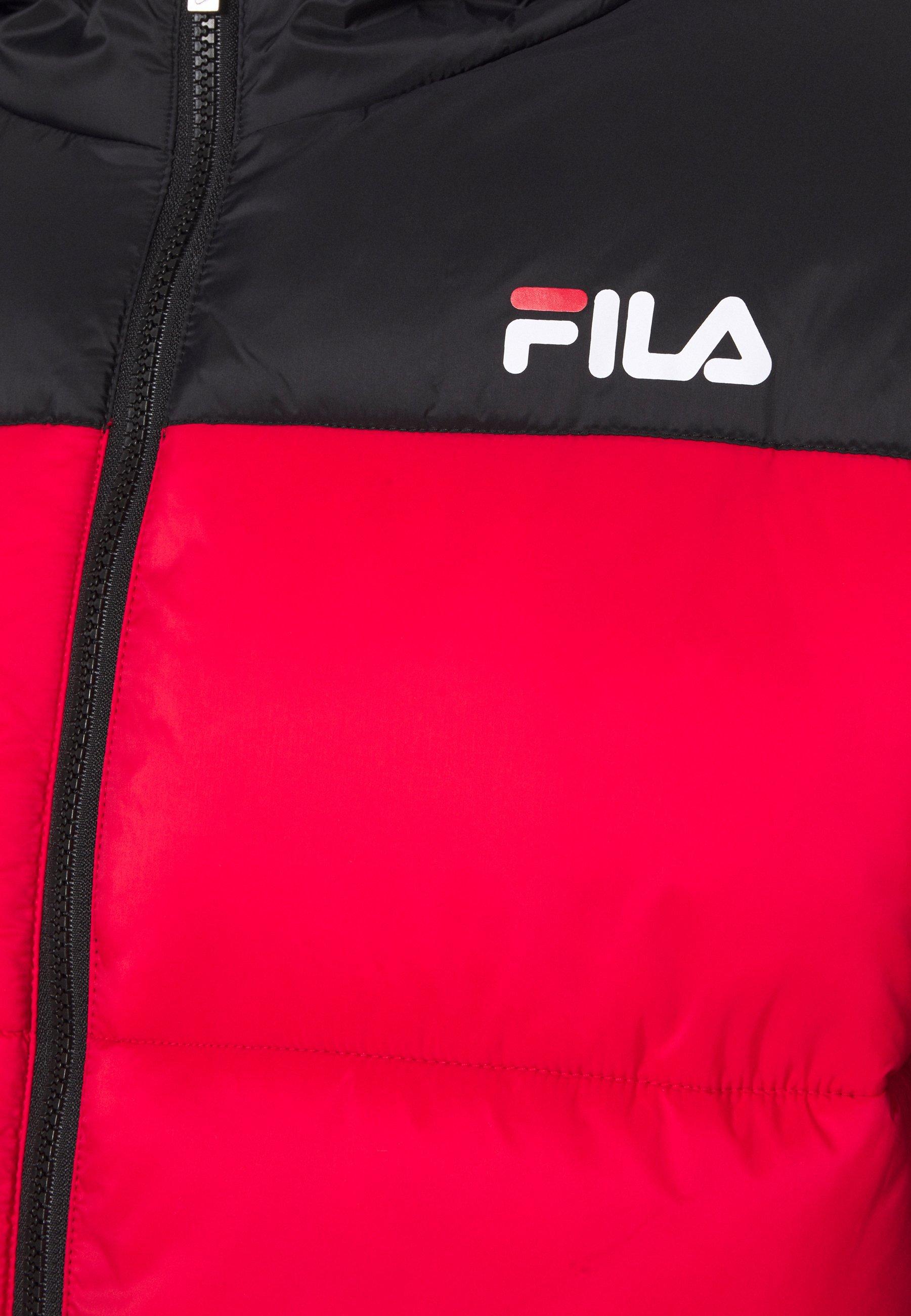 Fila Scooter Puffer Jacket - Winterjacke Black/true Red