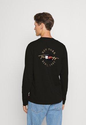 ICON LONG SLEEVE TEE - Pitkähihainen paita - black
