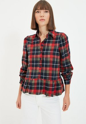Button-down blouse - navy blue