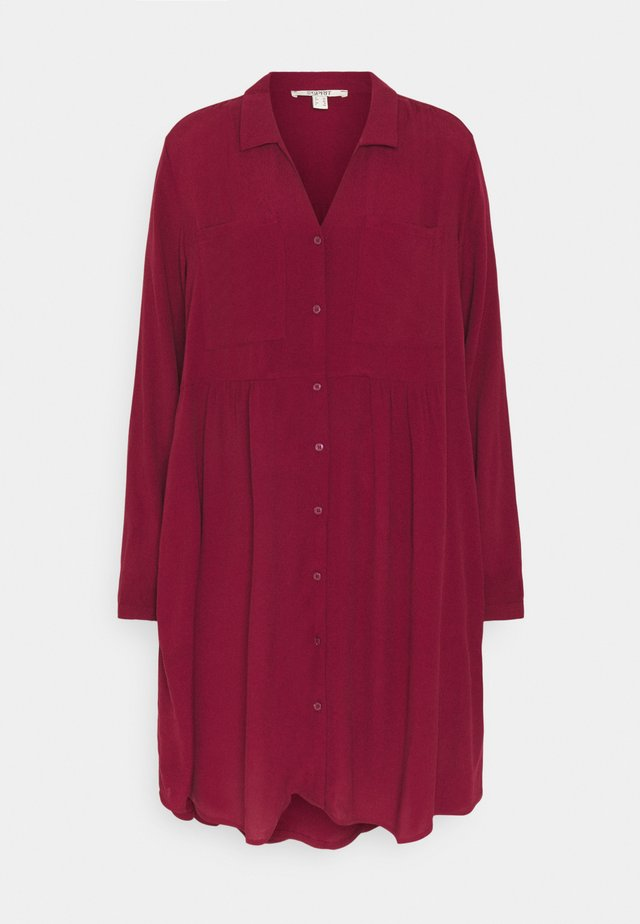 CREPE - Day dress - bordeaux red