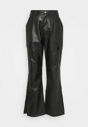 SIDE SPLIT TROUSER - Bukse - black