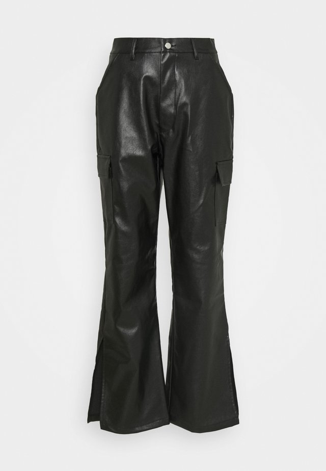 SIDE SPLIT TROUSER - Broek - black