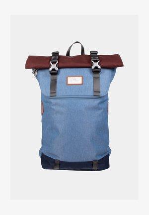 Rucksack - blue grey x maroon
