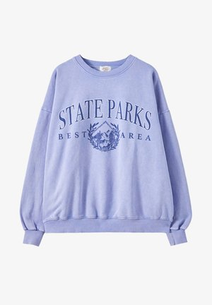 Sweatshirt - mottled blue