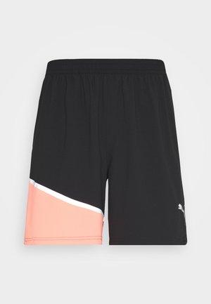 RUN LITE SHORT - Sports shorts - black/peach