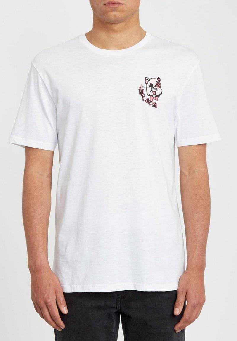 Volcom - WIGGLY  - Print T-shirt - white